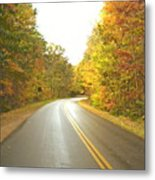 Blue Ridge Parkway In Fall Metal Print by Utopia Concepts