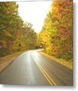 Blue Ridge Parkway In Fall Metal Print