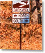 Blue Ridge Parkway Sign Metal Print