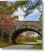 Blue Ridge Parkway Stone Arch Bridge Metal Print