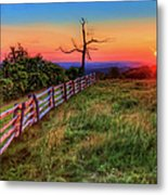 Blue Ridge Sunrise At Doughton II Metal Print