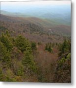 Blue Ridge View Metal Print