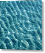 Blue Ripples Metal Print