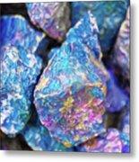 Blue Rocks Hold Metal Print
