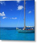 Blue Sailing Metal Print