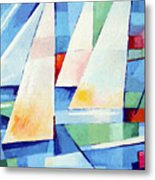 Blue Sea Sails Metal Print