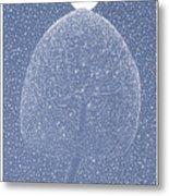 Blue Shadow Tree Metal Print