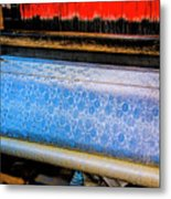Blue Silk Machine Metal Print