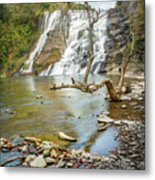 Blue Skies Over Ithaca Falls Metal Print