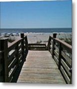 Blue Sky And Beautiful Beach Metal Print