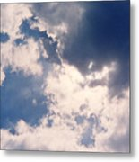 Blue Sky And Clouds Metal Print