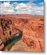 Blue Sky And Red Colored Canyon Metal Print