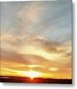 Blue Sky And Sunrise Metal Print