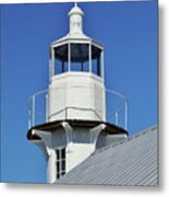 Blue Sky At The Lighthouse Metal Print