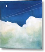 Blue Sky Birds Metal Print