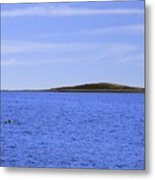 Blue Sky Blue Water And Earth Divider Metal Print