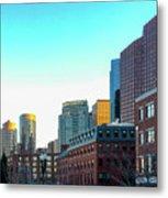 Blue Sky Boston Metal Print