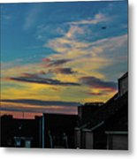 Blue Sky Colorful Sunset Metal Print