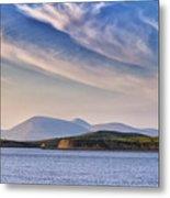 Blue Sky Over The Bay Metal Print