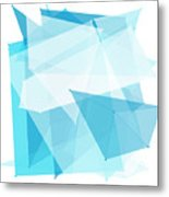 Blue Sky Polygon Pattern Metal Print