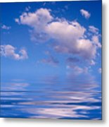 Blue Sky Reflections Metal Print