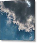 Blue Sky Solar Eclipse Metal Print
