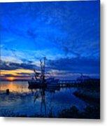 Blue Sky Sunset Metal Print