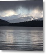 Blue Sky Through Dark Clouds Metal Print