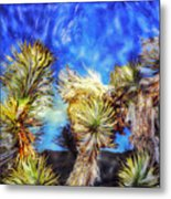 Blue Sky Yucca Metal Print