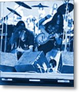 Blue Skynyrd Smoke Metal Print