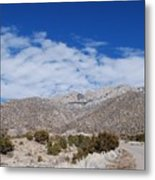 Blue Skys Over The Sandias Metal Print
