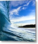 Blue Sleeve  - Triptych   Part 1of 3 Metal Print