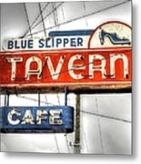 Blue Slipper Metal Print