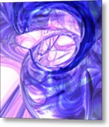 Blue Smoke Abstract Metal Print