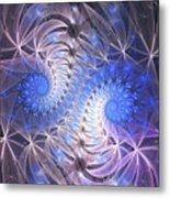 Blue Snails Metal Print