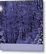 Blue Snow Metal Print