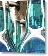 Blue Soda Abstract Metal Print