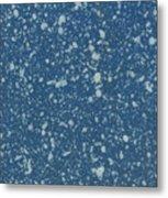 Blue Speckle Metal Print