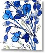 Blue Spray Metal Print