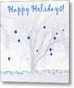 Blue Star Tree Metal Print