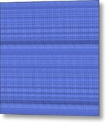 Blue Stripes Art On Gifts Shirts Pillows Tote Bags Phone Cases Shower Curtains Duvet Covers  Color S Metal Print