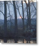 Blue Sunset On Fox River Metal Print