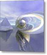 Blue Surreal Metal Print