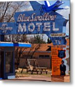 Blue Swallow Motel On Route 66 Metal Print