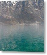 Blue Swiss Lagoon Metal Print