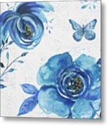 Blue Symphonie In The Garden 1 Metal Print
