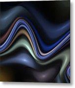 Blue Taffy Metal Print