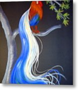 Blue Tail Fantasy Metal Print