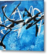 Blue Texture By Madart Metal Print