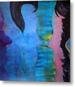 Blue Thoughts Metal Print